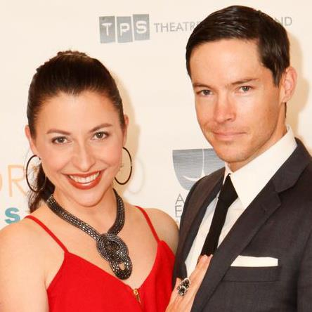 Angela DiMarco and husband David S Hogan at the Gregory Awards this year where she received a best supporting actress nomination
