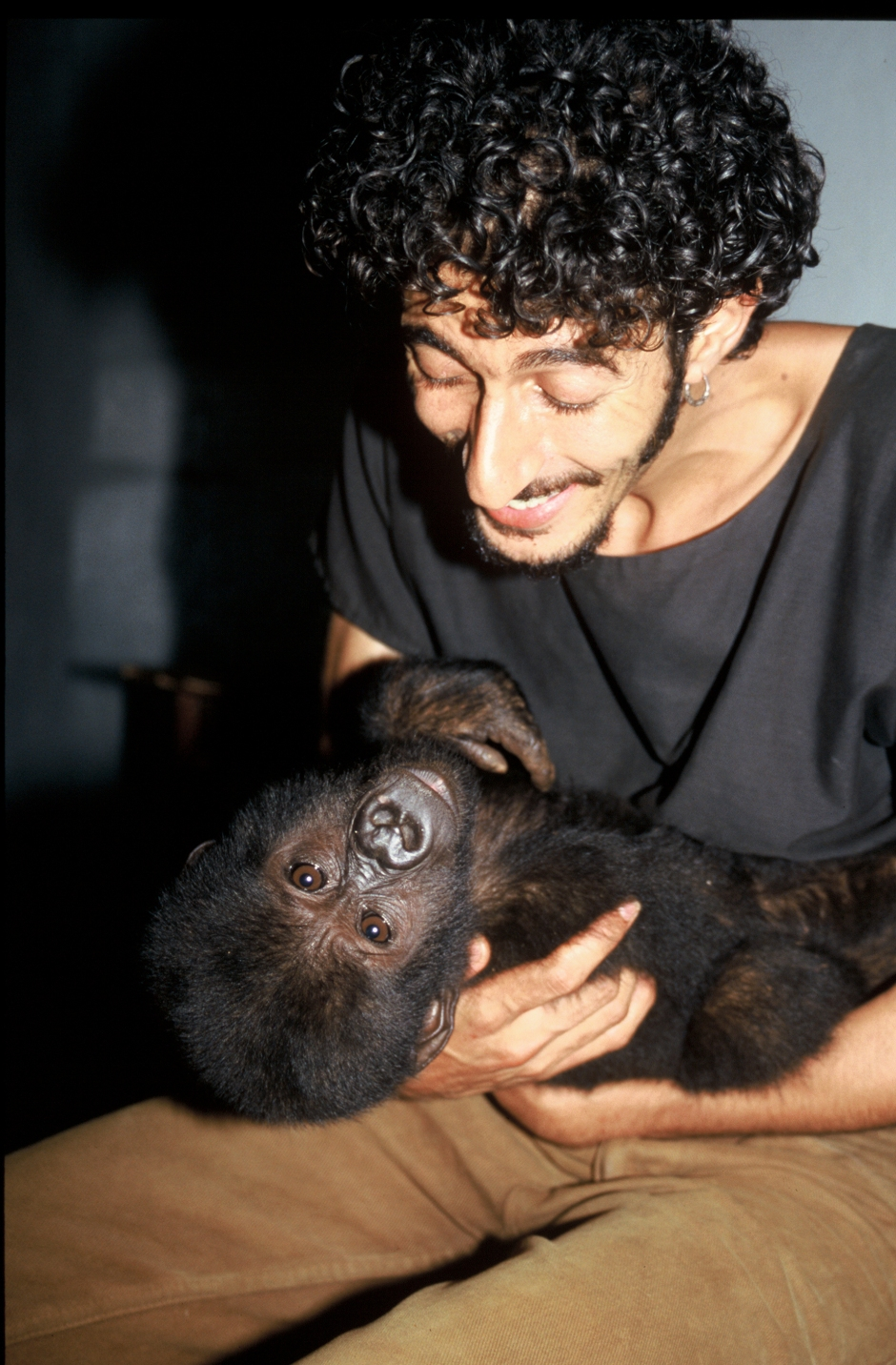 Ofir Drori and gorilla