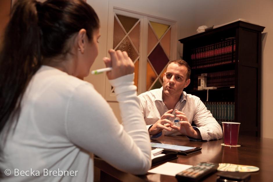 Shazreh Malik interviews Benjamin Barak Andrews, photo by Becka Brebner